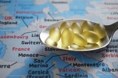Sanità di Europa, fine su fotografie stock