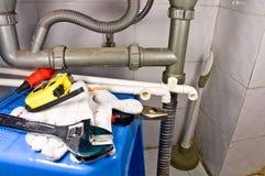 sanitär utrustninglivstid fortfarande Arkivbild