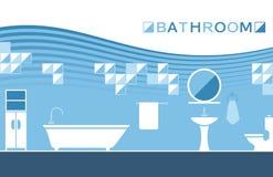 Sanitära ware för badrum vektor illustrationer