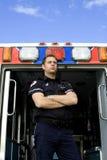 Sanitäter und Krankenwagen Lizenzfreie Stockfotos