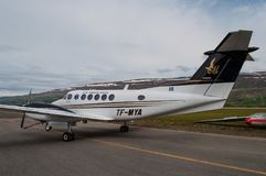 Sanitätsflugzeug Beechcraft Kingair 200 Lizenzfreies Stockfoto