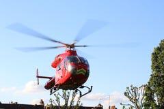 Sanitätsflugzeug-Hubschrauber Stockfoto