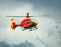 Sanitätsflugzeug-Hubschrauber Stockbild