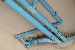 Sanitair pvc-pijpsysteem Royalty-vrije Stock Foto