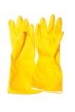Sanitaire geïsoleerde handschoenen Stock Foto