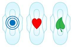 Sanitaire handdoek met symbolen Vector Illustratie