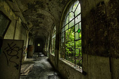 Sanitarium. Abandoned sanitarium near milano, Italy royalty free stock photos
