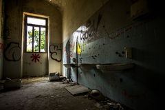 Sanitarium. Abandoned sanitarium near milano, Italy stock photos