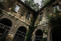Sanitarium. Abandoned sanitarium near milano, Italy royalty free stock image