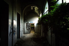 Sanitarium. Abandoned sanitarium near milano, Italy stock photo