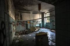Sanitarium. Abandoned sanitarium near milano, Italy royalty free stock photo