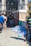 Sanitarna sytuacja splatający uchodźcy przed Kele Fotografia Stock