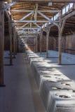 Sanitarny koszary w koncentracyjnym obozie auschwitz obraz royalty free