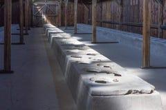 Sanitarny koszary w koncentracyjnym obozie auschwitz fotografia royalty free