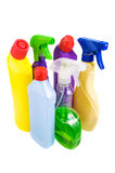 Sanitary bottle set Royalty Free Stock Images