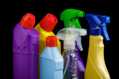 Sanitary bottle set Royalty Free Stock Photos