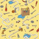 Sanitary Engineering Seamless Pattern Royalty Free Stock Photo