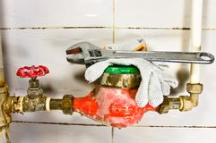 Sanitary equipment still life. stock image