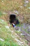 Sanitary hole. Sanitary entrance hole Royalty Free Stock Photo