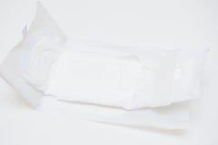 Sanitary napkins for women. White Royalty Free Stock Photos