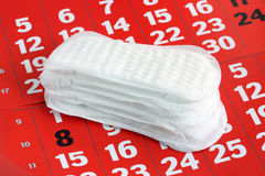 Sanitary pad. Royalty Free Stock Photography