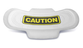 Sanitary Pad Caution Sign Front Stock Images