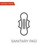 Sanitary Pad Vector Icon Royalty Free Stock Photo
