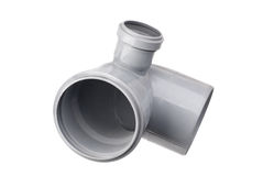 Sanitary PVC fittings Stock Photos