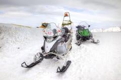 Sanitary snowmobile Stock Photos
