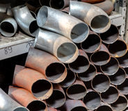 Sanitary Stainless Butt Weld Elbow. Steel Socket Weld Pipe Fitt Royalty Free Stock Photography