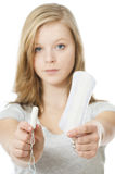Sanitary or tampon Stock Image
