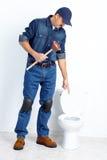 Sanitary technician Stock Photo