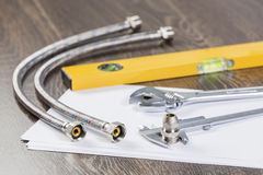 Sanitary tools Royalty Free Stock Photos
