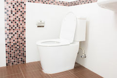 Sanitary Ware New Bathroom white toilet Stock Photo
