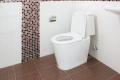 Sanitary Ware New Bathroom white toilet Stock Image