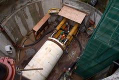 Sanitation bay works at Panama by Odebrecht company Royalty Free Stock Photo