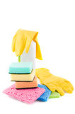 Sanitation and cleaning products Royalty Free Stock Image