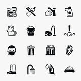 Sanitation and health vector flat icons set Royalty Free Stock Photos