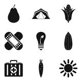 Sanitation icons set, simple style Royalty Free Stock Photos