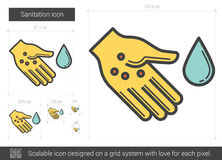 Sanitation line icon. Royalty Free Stock Images