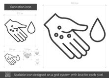 Sanitation line icon. Royalty Free Stock Photos