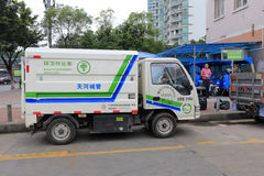 Sanitation vehicle Royalty Free Stock Photo