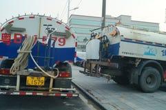 Sanitation vehicles Royalty Free Stock Image
