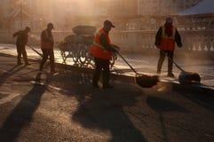Sanitationman; sanacja pracownik fotografia stock