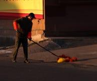 Sanitationman; sanacja pracownik fotografia royalty free
