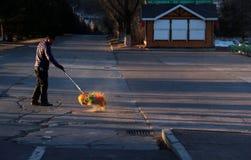 Sanitationman; sanacja pracownik zdjęcie stock