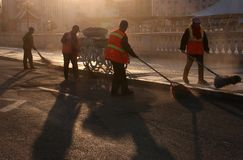 Sanitationman; sanacja pracownik obraz royalty free
