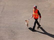 Sanitationman; sanacja pracownik obraz stock