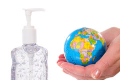 Sanitize The World Royalty Free Stock Photos