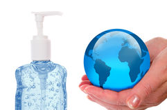 Sanitize The World Royalty Free Stock Photos